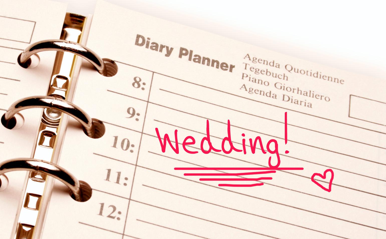 Wedding planning, wedding day